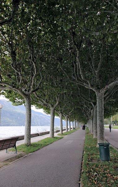 Vue de l'esplanade du lac